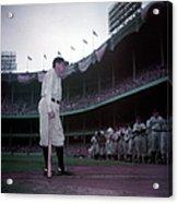 Baseball Great Babe Ruth, In Uniform Acrylic Print