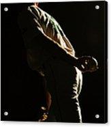Baseball Pitcher Holding Ball Behind Acrylic Print