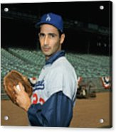 Baseball Player Sandy Koufax Acrylic Print