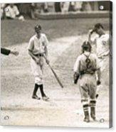 Baseball Star Joe Dimaggio Acrylic Print