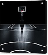Basketball Court. Photorealistic 3d Acrylic Print