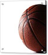 Basketball On White Background Acrylic Print