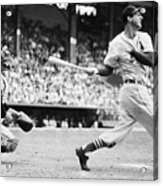 Batter Stan Musial And Catcher Wes Acrylic Print