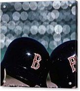Batting Helmets Acrylic Print