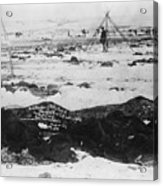 Battlefield At Wounded Knee 1890 Acrylic Print