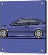 Bavarian E36 3-series M-drei Coupe Techno Violet Acrylic Print