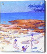 Beach At Cabasson - Digital Remastered Edition Acrylic Print