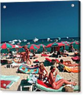 Beach At St. Tropez Acrylic Print