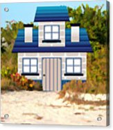 Beach Cottage Acrylic Print