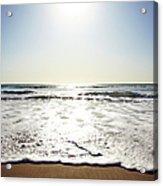 Beach In California On Pacific Ocean Acrylic Print