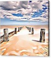 Beach Perpective Acrylic Print