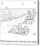 Beach Reading Acrylic Print
