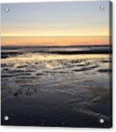 Beach Sunset, Blackpool, Uk 09/2017 Acrylic Print