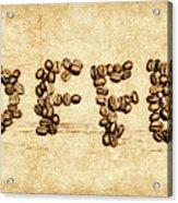 Bean Making Coffee Acrylic Print