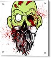 Bearded Zombie Undead With Beard Halloween Party Light Acrylic Print
