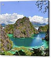 Beautiful Blue Lagoon At Kayangan Lake Acrylic Print