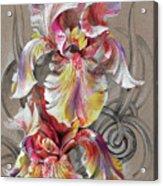 Beautiful Fantastic Realistic Flowers Acrylic Print