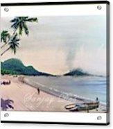 Beautiful Goa Beach Acrylic Print