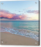 Beautiful Seascape, Beach And Ocean At Acrylic Print
