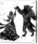 Beauty And The Beast Dancing Acrylic Print