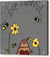Bee Thankful Acrylic Print