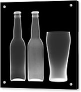 Beer Bottles And Drinking Glass Acrylic Print