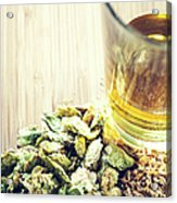 Beer With Organic Hops And Malted Barley Acrylic Print