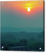 Beijing Forbidden City Sunset Panorama Acrylic Print