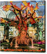 Bellagio Conservatory Enchanted Talking Tree Ultra Wide 2018 2.5 To 1 Aspect Ratio Acrylic Print