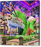 Bellagio Conservatory Spring Display Front Side View Wide 2018 2 To 1 Aspect Ratio Acrylic Print