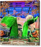 Bellagio Conservatory Spring Display Ultra Wide Trees 2018 2 To 1 Aspect Ratio Acrylic Print