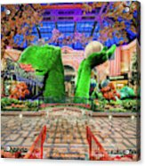 Bellagio Conservatory Spring Display Ultra Wide Trees 2018 Acrylic Print