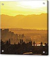 Bellevue Eastside Morning Light Atmosphere Acrylic Print