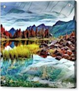 Belluno Mountains Acrylic Print