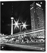 Berlin Alexanderplatz At Night Acrylic Print