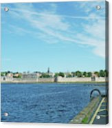 Berwick Upon Tweed, River And City Walls Acrylic Print