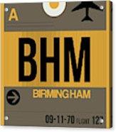 Bhm Birmingham Luggage Tag I Acrylic Print
