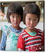 Bhutan Twins Acrylic Print
