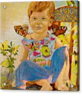 Bianka And Butterflies Acrylic Print