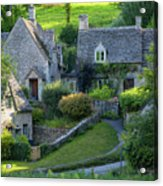 Bibury Cottages Acrylic Print