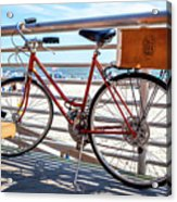Bicycle At The Beach Acrylic Print