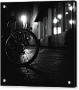 Bicycle In Dark Street Acrylic Print