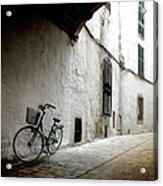 Bicycle Leaning Wall Acrylic Print