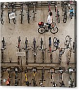 Bicycle Park At Boon Lay Mrt Station Acrylic Print