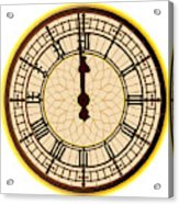 Big Ben Midnight Clock Face Acrylic Print