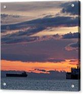 Big Boat Silhouettes Acrylic Print