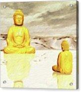 Big Buddha, Little Buddha Acrylic Print