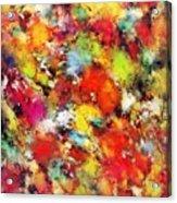 Big Colour Storm Acrylic Print
