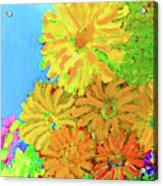 Biggie Flowers Sky Acrylic Print
