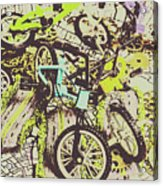 Bikes And City Routes Acrylic Print